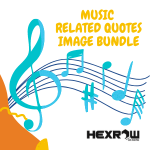 HEXROW Music related Quotes Image Bundle