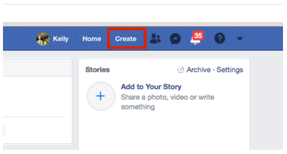 Log In to your brand page on Facebook
